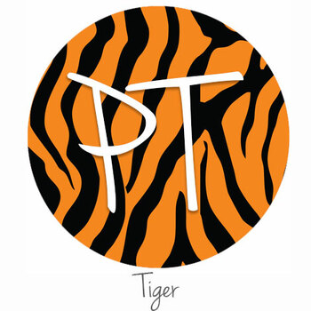 "12""x12"" Patterned Heat Transfer Vinyl - Tiger"