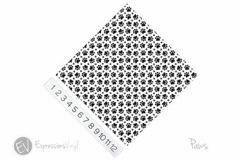 "12""x12"" Patterned Heat Transfer Vinyl - Paws"