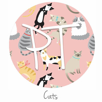 "12""x12"" Patterned Heat Transfer Vinyl - Cats"