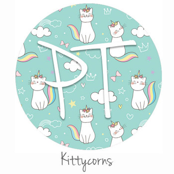 "12""x12"" Patterned Heat Transfer Vinyl - Kittycorns"