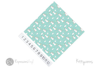 "12""x12"" Patterned Heat Transfer Vinyl - Kittycorns"