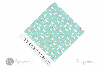 "12""x12"" Permanent Patterned Vinyl - Kittycorns"