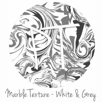 "12""x12"" Permanent Patterned Vinyl - Marble Texture - White & Grey"