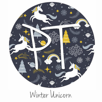 "12""x12"" Patterned Heat Transfer Vinyl - Winter Unicorn"