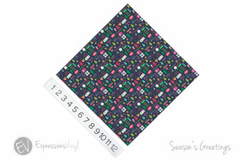 "12""x12"" Patterned Heat Transfer Vinyl - Season's Greetings"