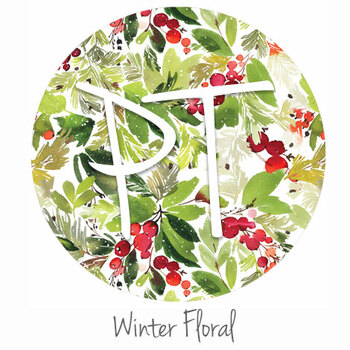 "12""x12"" Patterned Heat Transfer Vinyl - Winter Floral"