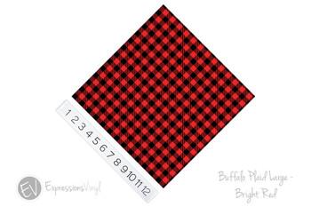 "12""x12"" Patterned Heat Transfer Vinyl - Buffalo Plaid Large - Bright Red"