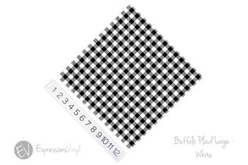 "12""x12"" Patterned Heat Transfer Vinyl - Buffalo Plaid Large - White"