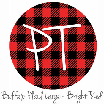 "12""x12"" Permanent Patterned Vinyl - Buffalo Plaid Large - Bright Red"