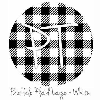 "12""x12"" Permanent Patterned Vinyl - Buffalo Plaid Large - White"
