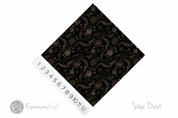"12""x12"" Permanent Patterned Vinyl - Star Dust"