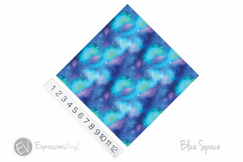 "12""x12"" Patterned Heat Transfer Vinyl - Blue Space"