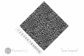 "12""x12"" Permanent Patterned Vinyl - Snow Leopard"