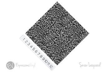 """12""""x12"""" Patterned Heat Transfer Vinyl - Snow Leopard"""