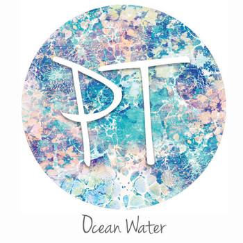 """12""""x12"""" Permanent Patterned Vinyl - Ocean Water"""