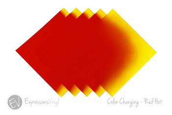 "Color Changing Vinyl - Red Hot - 12""x12"" Sheet"