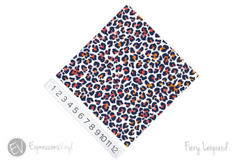 "12""x12"" Permanent Patterned Vinyl - Fiery Leopard"