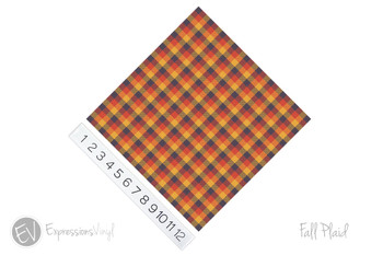 "12""x12"" Permanent Patterned Vinyl - Fall Plaid"