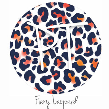 """12""""x12"""" Patterned Heat Transfer Vinyl - Fiery Leopard"""