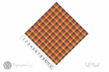 "12""x12"" Patterned Heat Transfer Vinyl - Fall Plaid"