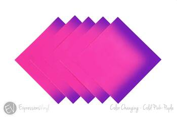 "Color Changing Vinyl - Cold Pink/Purple - 12""x12"" Sheet"