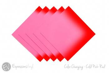 "Color Changing Vinyl - Cold Pink/Red - 12""x12"" Sheet"