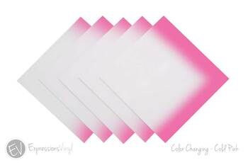 "Color Changing Vinyl - Cold Pink - 12""x12"" Sheet"