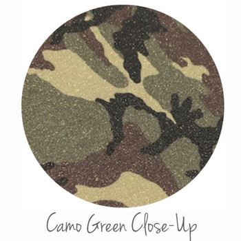 "8""x12"" Patterned Glitter Heat Transfer Vinyl - Camo Green"