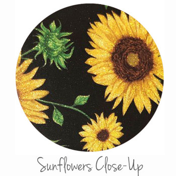 "12""x12"" Permanent Glitter  Vinyl - Sunflower"