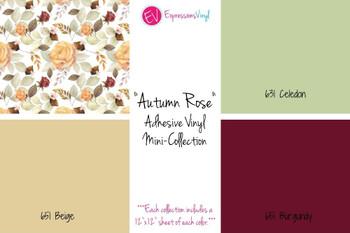 Autumn Rose - Adhesive Vinyl Mini-Collection