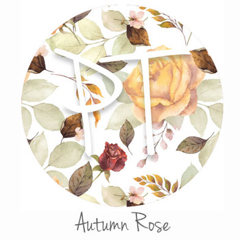 Patterned Adhesive Vinyl - Autumn Rose