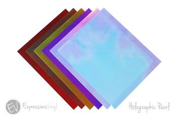 "Holographic Pearl 9""x12"" Heat Transfer Sheet"