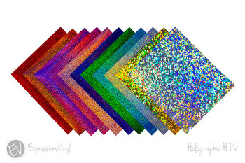 "Holographic 12""x20"" Heat Transfer Sheets"