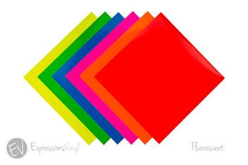 "Fluorescent Vinyl 12""x12"" Sheets"
