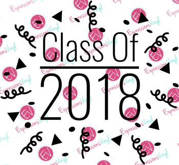 Class of 2018 Digital Cut File