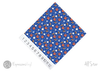"12""x12"" Permanent Patterned Vinyl - All Star"