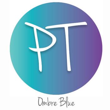 """12""""x12"""" Permanent Patterned Vinyl - Ombre Blue"""