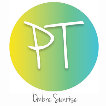 """12""""x12"""" Permanent Patterned Vinyl - Ombre Sunrise"""