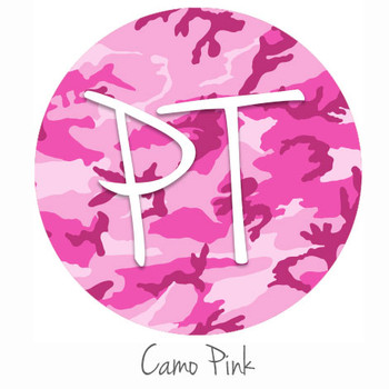 "12""x12"" Permanent Patterned Vinyl - Camo Pink"