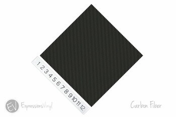 "12""x12"" Permanent Patterned Vinyl - Carbon Fiber"