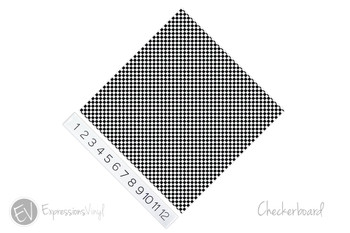 "12""x12"" Permanent Patterned Vinyl - Checkerboard"