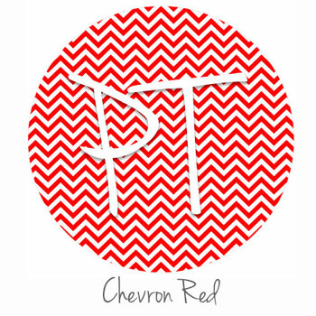 "12""x12"" Permanent Patterned Vinyl - Chevron Red"
