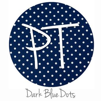 "12""x12"" Permanent Patterned Vinyl - Dots - Dark Blue"