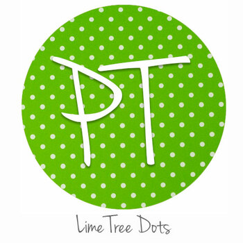 "12""x12"" Permanent Patterned Vinyl - Dots - Lime Tree"