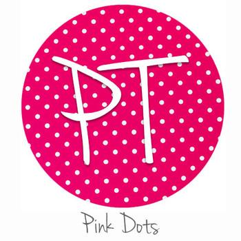 "12""x12"" Permanent Patterned Vinyl - Dots - Pink"