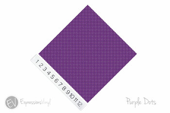 "12""x12"" Permanent Patterned Vinyl - Dots - Purple"