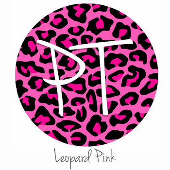 "12""x12"" Permanent Patterned Vinyl - Leopard Pink"
