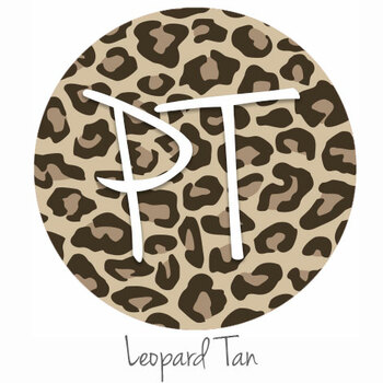 "12""x12"" Permanent Patterned Vinyl - Leopard Tan"
