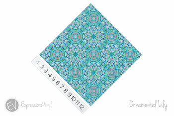 "12""x12"" Permanent Patterned Vinyl - Ornamental Lily"