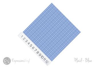 """12""""x12"""" Permanent Patterned Vinyl - Plaid Blue"""